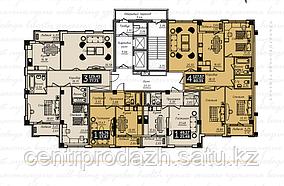 1 комнатная квартира в ЖК  Liberty  (Либерти)  49.17 м²
