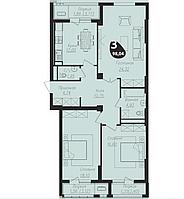 3 комнатная квартира в ЖК Асем Тас 2 98.04 м²