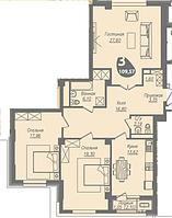 3 комнатная квартира в ЖК Асем Тас 2 109.57 м², фото 1