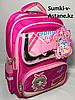 Школьный рюкзак для девочек с 1-го по 3-й класс.Высота 41 см, ширина 29 см, глубина 14 см.