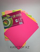 Бумага для принтера цветная флюоресцентная А4  Chiisen Specta colour,Ассорти 5 цветов