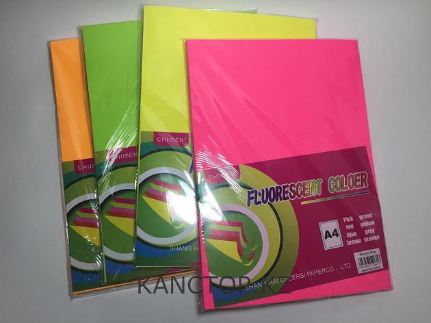 Бумага для принтера А4 цветная флюоресцентная Chiisen Specta colour., фото 2
