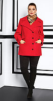 Пальто Lissana-3910, алый, 50