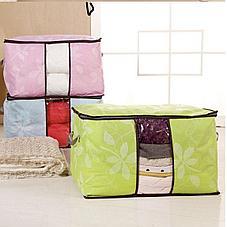 Органайзер для одежды с цветочным принтом салатовый, фото 3