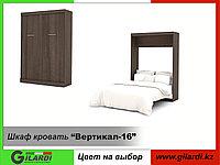 Шкаф кровать вертикальная (спальное место 2х1,6м), фото 1