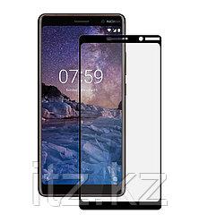 Защитное стекло Full screen PowerPlant для Nokia 7 Plus, Black