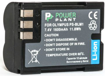 Аккумулятор PowerPlant Olympus PS-BLM1 1600mAh