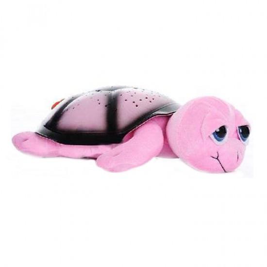 Ночник - проектор Черепаха (розовая)