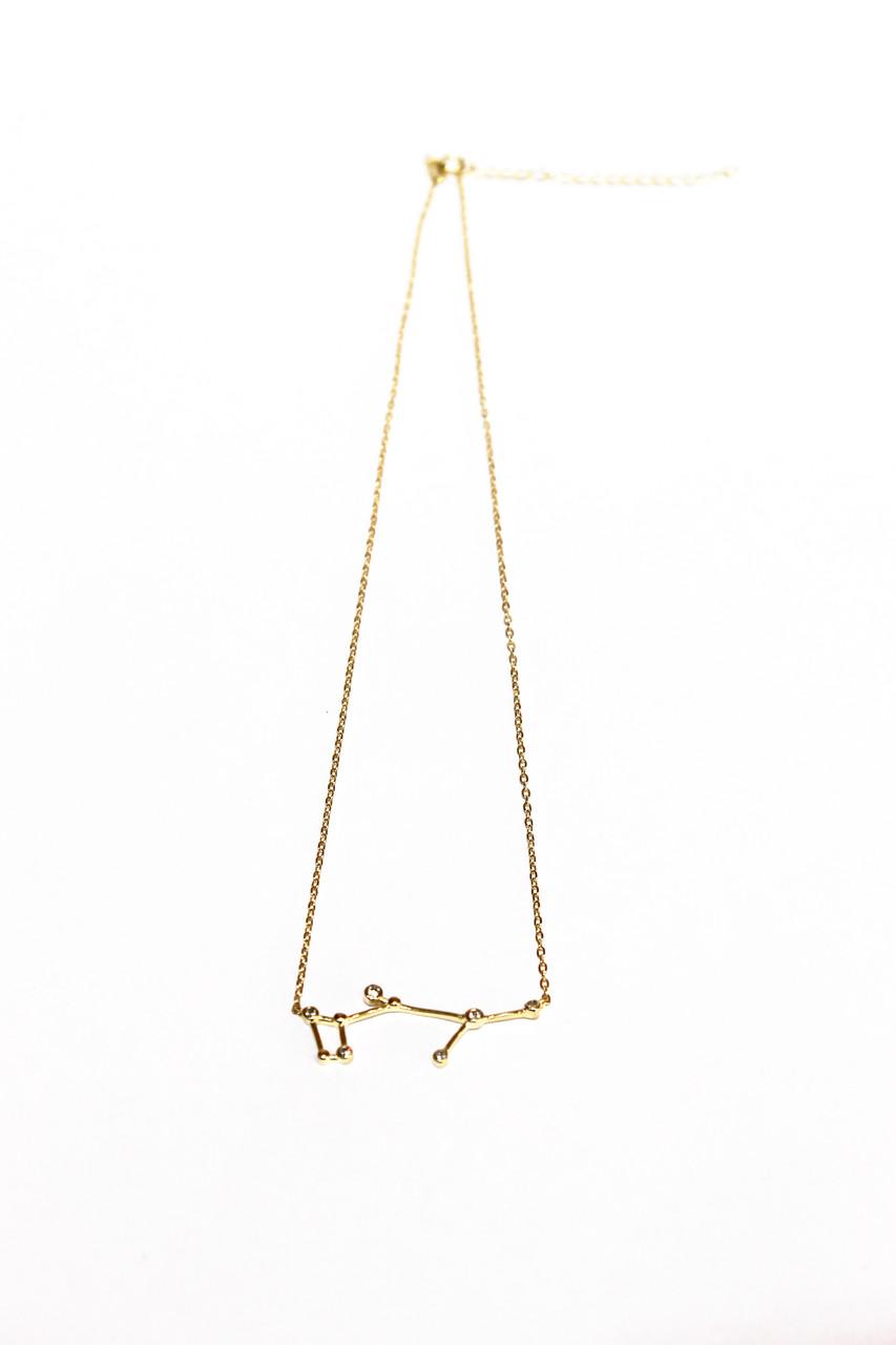 Серебряная подвеска Созвездие (Рыбы) Золочение. Brosh Jewellery (Серебро 925)