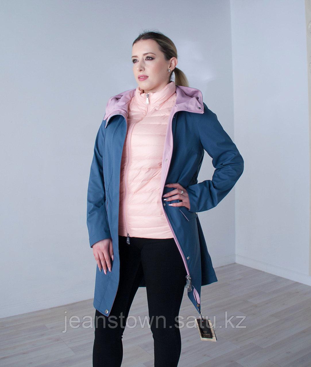 Куртка женская демисезонная  Evacana голубая с жилетом