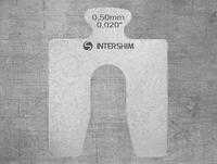 Калиброванная пластина INTERSHIM Type A, толщина (мм/дюймы) 1.00 / 0.039, размеры 50х50 мм, ширина паза 16 мм