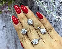 Роскошный набор Серьги,кулон и кольцо. Серебро 925 проба.