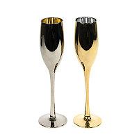 Набор бокалов для шампанского MOONSUN (2шт) серебристый, золотистый