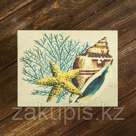 Шкатулка деревянная с рисунком
