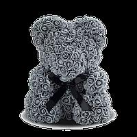 3D Мишка из роз Серый
