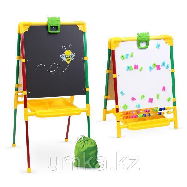 Двухсторонний мольберт для детского творчества и развития с регулировкой по высоте