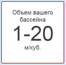 Объем бассейна 1-20 м/куб