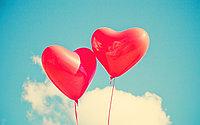 Гелиевые сердца на День Влюбленных