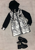 Демисезонные детские курточки Del Fin Free серебро
