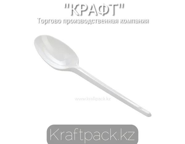 Ложка столовая пластиковая, белая Компакт 165мм (100уп/4000кор)