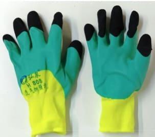 """Перчатки """"Лайм"""" с ПВХ покрытием на ладони и пальцах"""