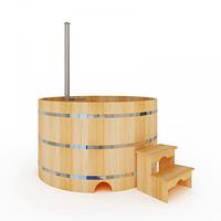 Купель-Фурако д. 220 см. из кедра / круглая / с подогревом (Печь внутри), фото 1