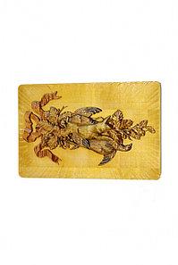 """Картина резная """"Заяц и утки"""" натуральное дерево, 400*265 мм, Банный Эксперт"""