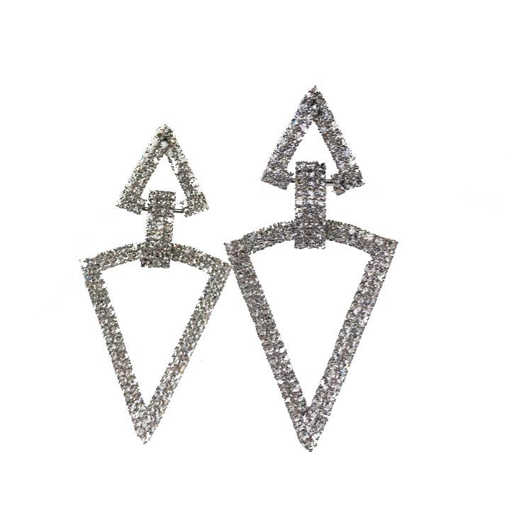 Вечерние серьги Brosh Jewellery. Цвет-серебро.