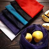 Синтетика. Многоразовый мешочек авоська для овощей и фруктов., фото 6