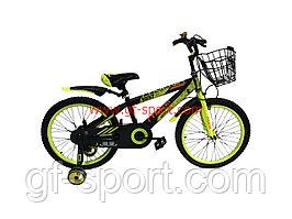 Велосипед Phoenix салатовый алюминиевый сплав оригинал детский с холостым ходом 20 размер