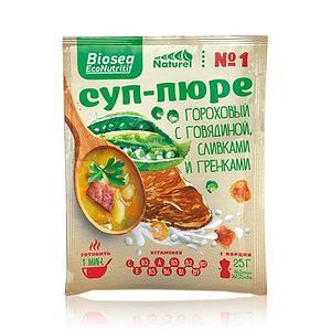 Суп-пюре #1 Гороховый с говядиной, сливками и гренками (Франция) Биоси (Biosea EcoNutritif)