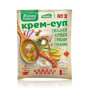 Крем-суп №2 овощной с курицей, грибами и гренками (Франция) Biosea EcoNutritif