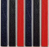 Цветные каналы с покрытием «кожа» O.CHANNEL Mundial А4 304 мм 10 мм, черные