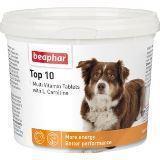 BEAPHAR Top 10 For Dogs Комплекс витаминов Топ 10, с L-карнитином для собак, 750таб., фото 1