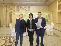 Представители нашей компании на встрече с госпожой Karen Ho, представляющей Тайваньскую машиностроительную компанию Winner Machine. Отель Royal Tulip, Алматы. Май 2015 года.