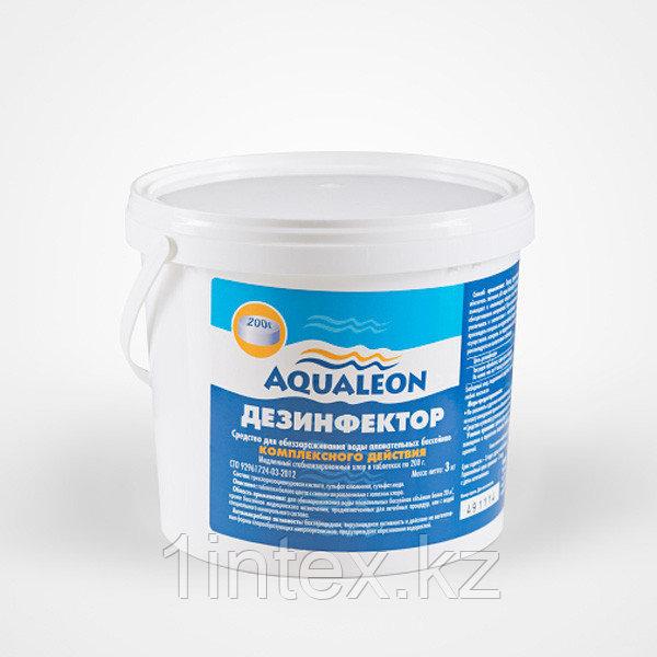 Дезинфектор КОМПЛЕКСНЫЙ табл. 200г/1кг ведро, медлен. хлор