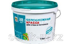 Краска для стен и потолков белоснежная акриловая p-28 -24 кг, фото 2