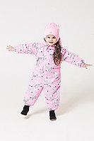 Crockid. Комбинезон ярко-розовый, зебры. Размер 80-86