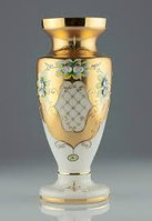Ваза 40см белая Panenka (JN Glass, Чехия)