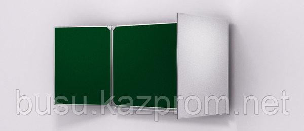 Доска школьная маркерно-меловая+магнитная (зеленая) 1000*3000,настенная