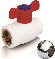 Шаровой кран из ППР с шариком из PPSU для горячей воды