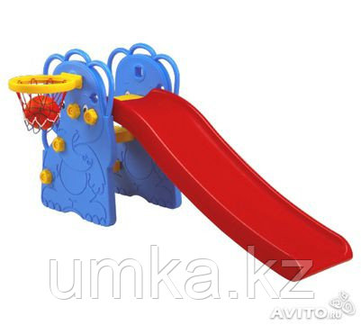 Горка Слон с баскетбольным кольцом