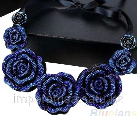 """Колье """"Синие розы"""""""
