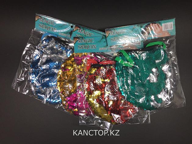 Кошелек/сумка с паетками/палетками большая, фото 2