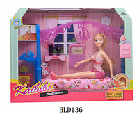 BLD 136 Спальня для барби Bedroom Kaibibi 39*30см