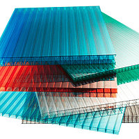 Сотовый поликарбонатный лист цветной КинПласт 2100х12000х20мм