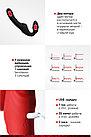 Безремневой Страпон «BLACK & RED BY TOYFA» С Вибрацией, Влагостойкий, 35 СМ, фото 4