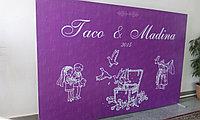 Пресс-стена по индивидуальному заказу полный комплект 2*3 м банеры, конструкции, дизайн, монтаж на торжество