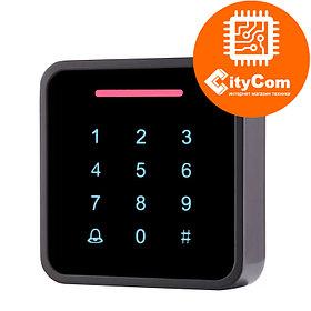 Панель контроля доступа SmartLock DS-SN-K86D кнопки+ карта + WG26. СКУД. Панель накладная. Сенсорная.