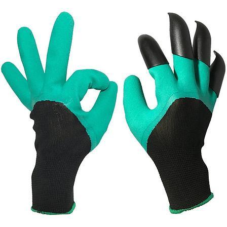 Садовые перчатки Garden Genie Gloves с когтями Ликвидация склада с летними товарами, фото 2